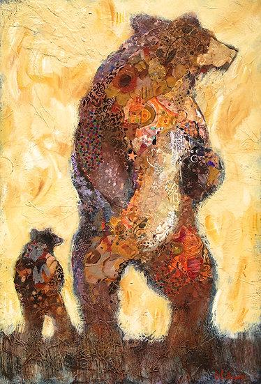 bear and cub original art
