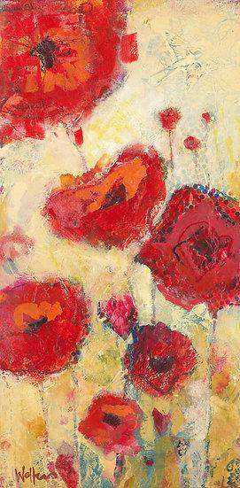 poppies art canvas
