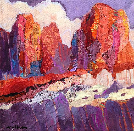 beautiful sunset at Smith Rock painting