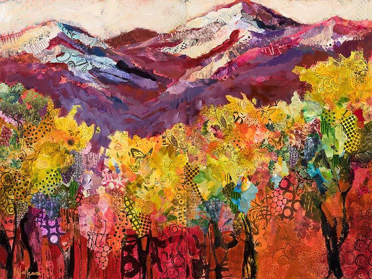 vineyard contemporary art on canvas