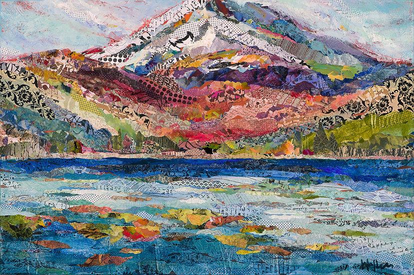 Cascade Lakes contemporary art on canvas