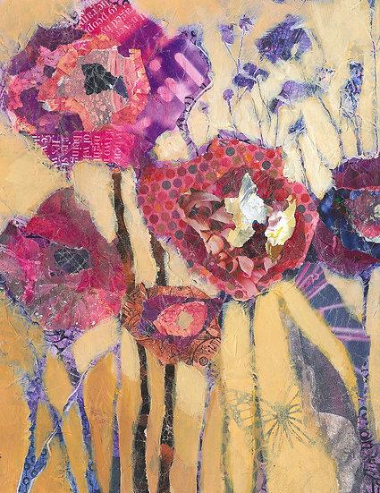 flowers contemporary paintig