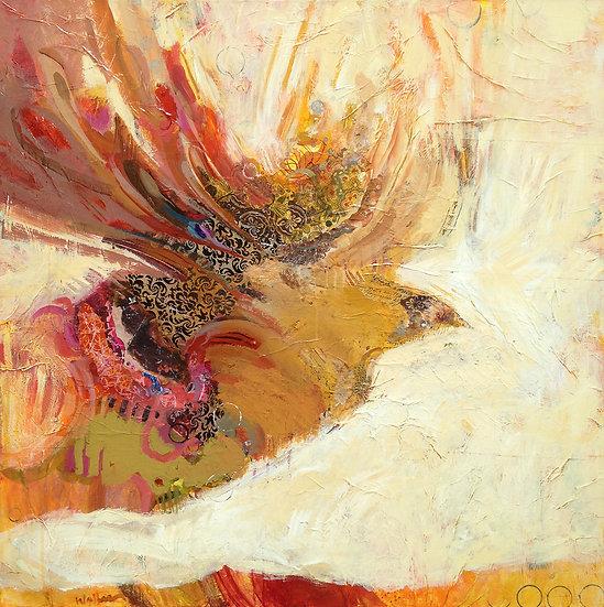 bird in flight painting