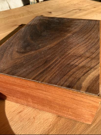 Mahogany and Walnut Box