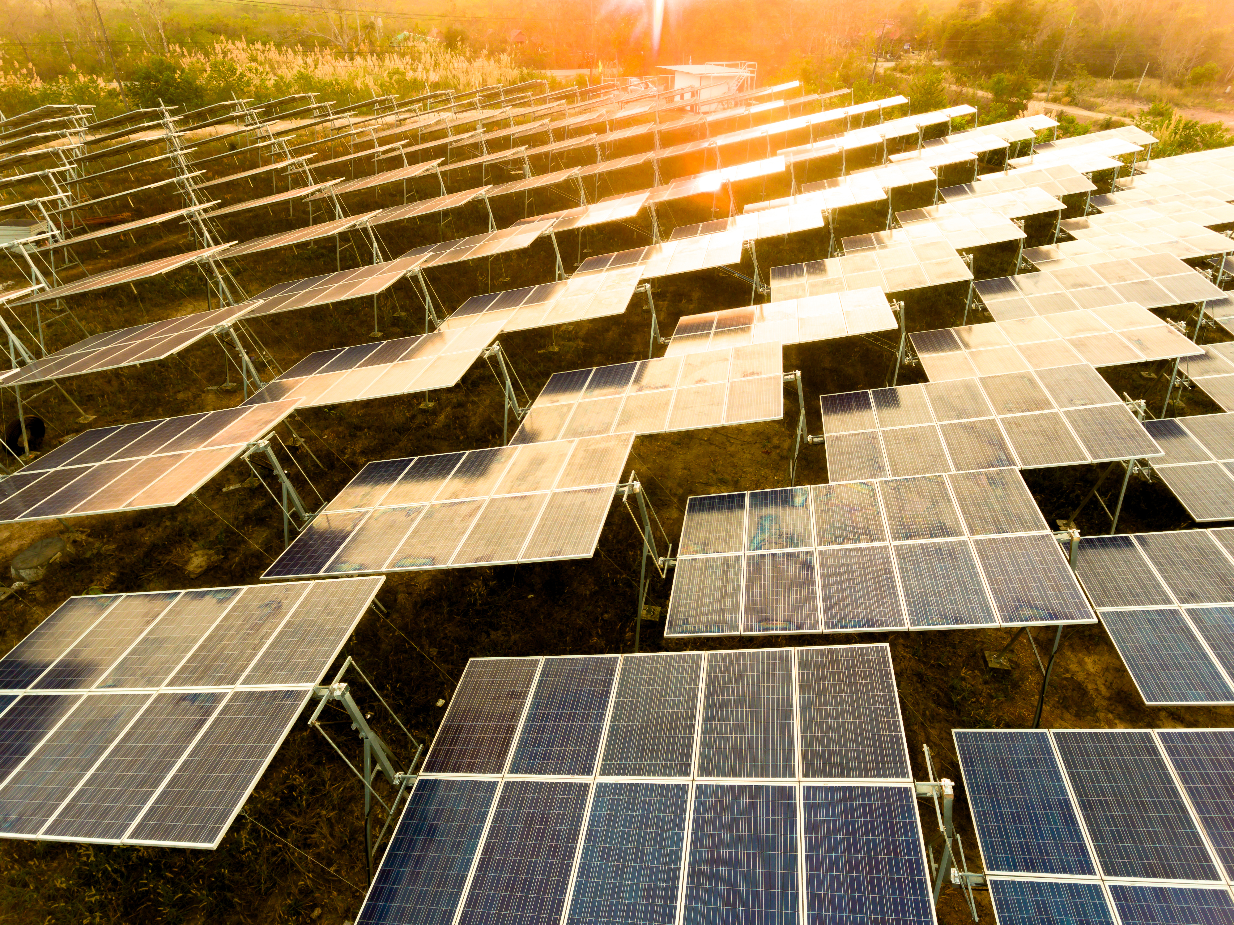 Solar Farm Sunset