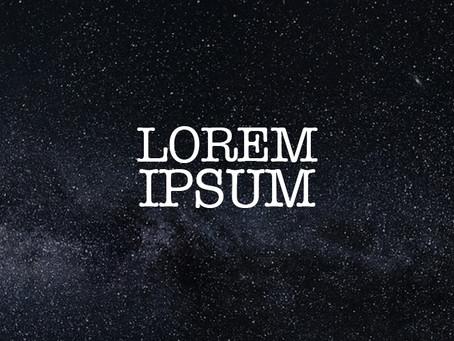 Lorem Ipsum VS content first