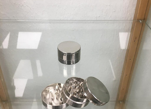 Three piece small silver grinder