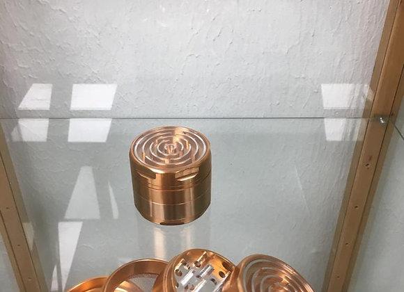 Large four piece bronze game grinder