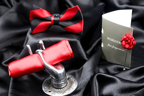 GENTLEMEN'S BOX BLACK & RED STRIPE