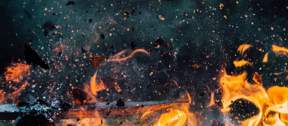 Как тушить низовой пожар