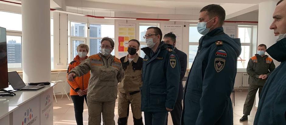 Встреча с руководством МЧС России и ГУ МЧС по Республике Бурятия, обсуждение итогов работы и планов
