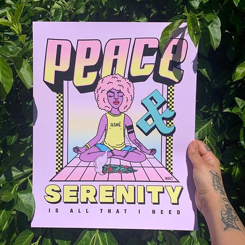 """PEACE & SERENITY"" PRINT"