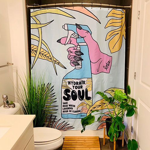 HYDRATE YOUR SOUL SHOWER CURTAIN