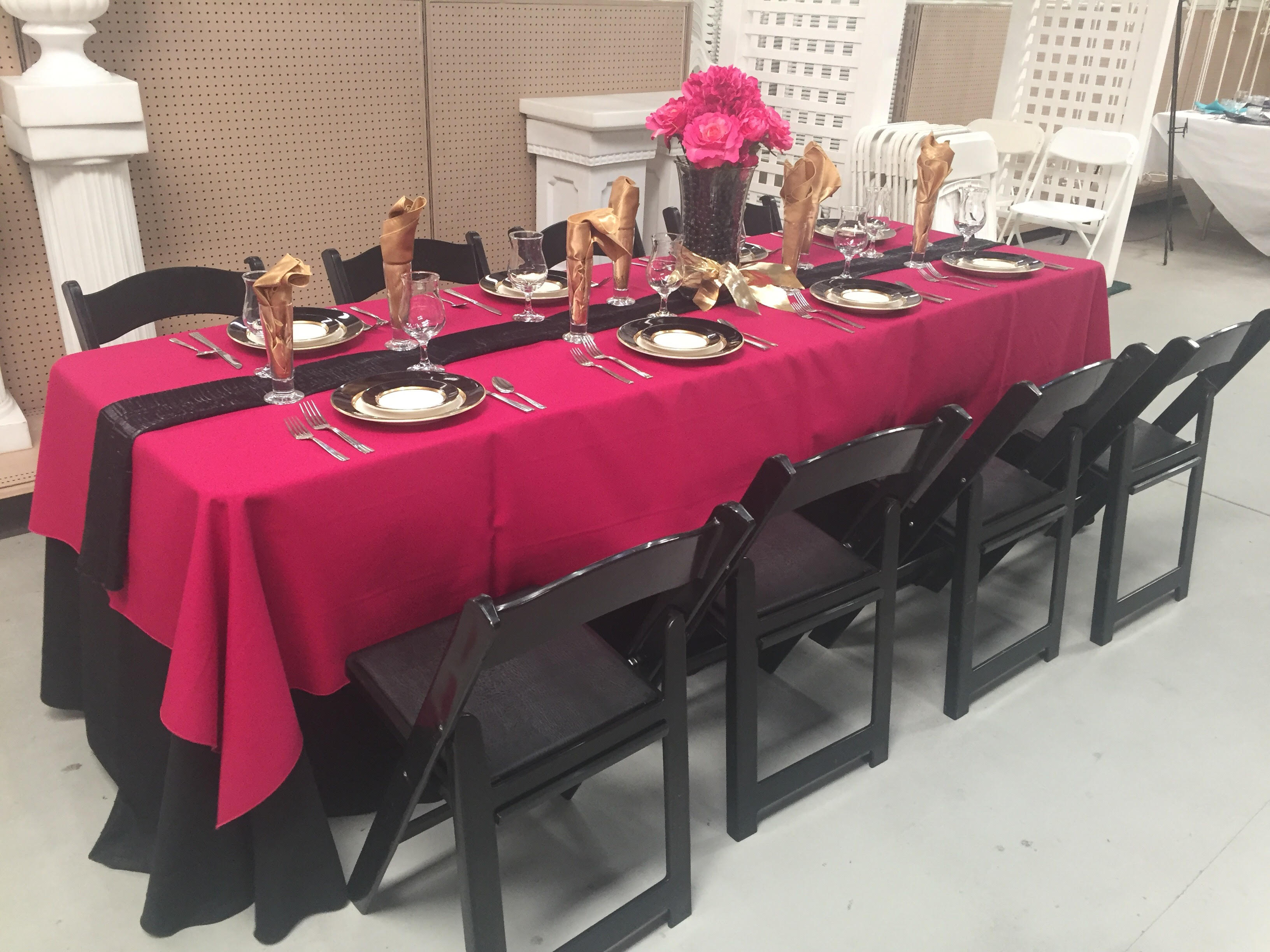 Pink and Black Table