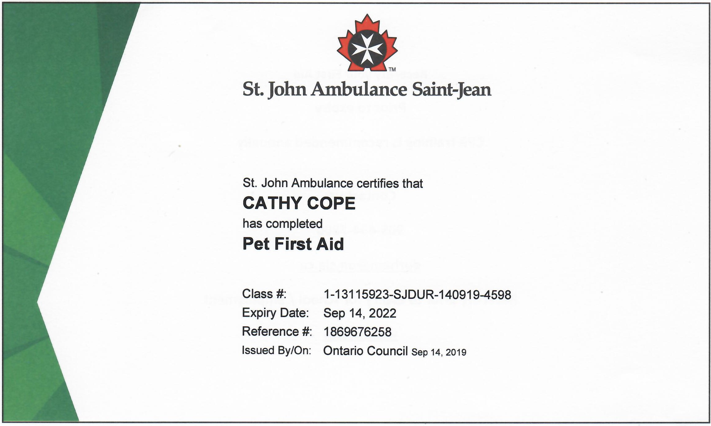 2019-09-14 Pet First Aid