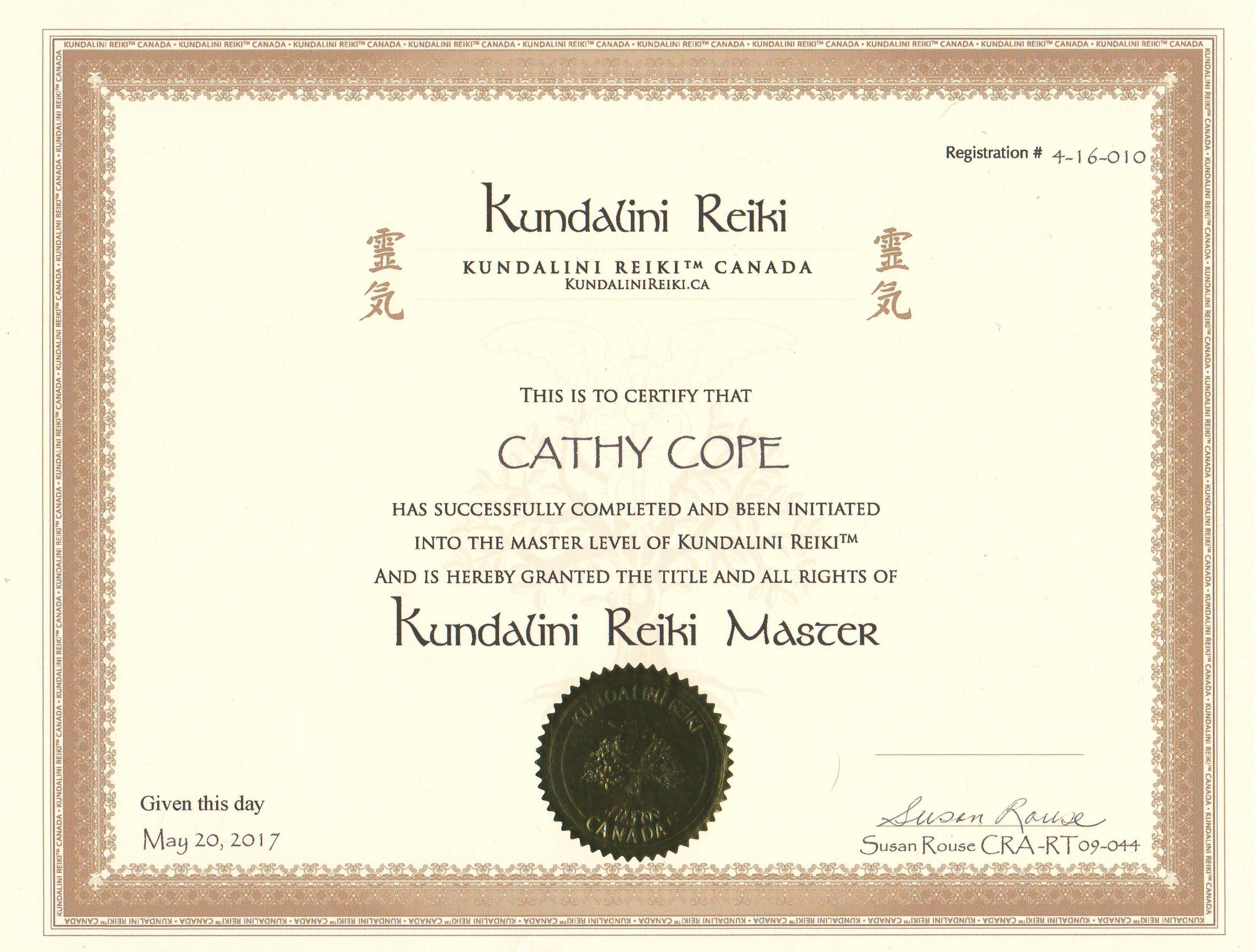 Kundalini Master Cert