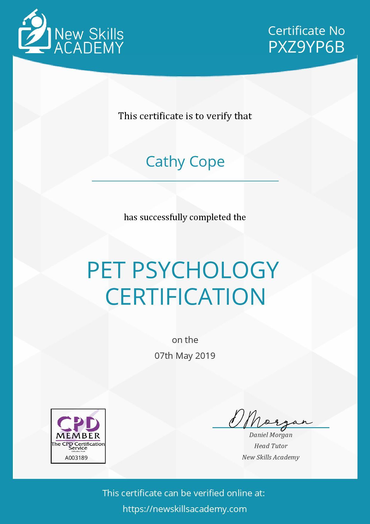 Pet Psychology certificate-page-001