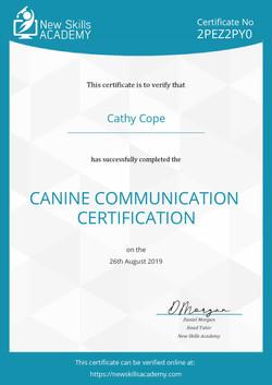 Canine Communication Certificate