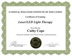 Laser LED Light Therapy Certificate