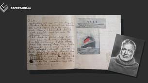 ค้นพบงานเขียนชิ้นแรกของ Ernest Hemingway วัยสิบขวบในถุงแช่แข็ง