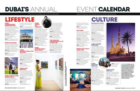 Dubai Calendar - Conde Nast Traveller, India