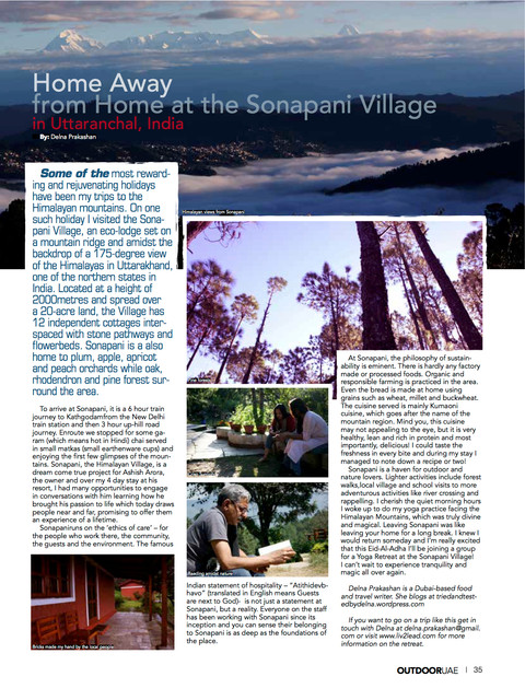 Home Away from Home at Sonapani - Outdoor UAE