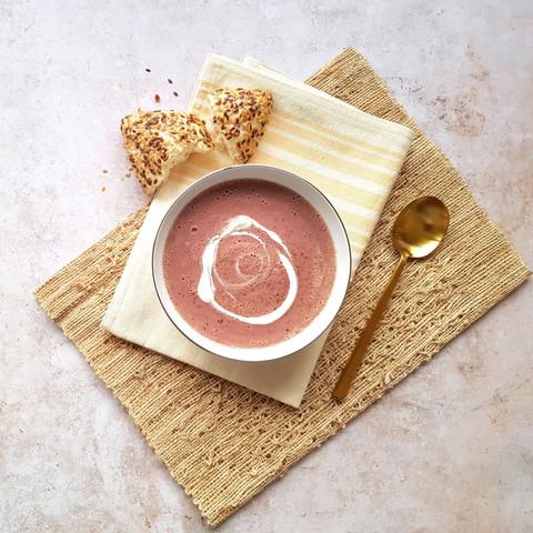 Purple Cabbage & Sweet Potato Soup