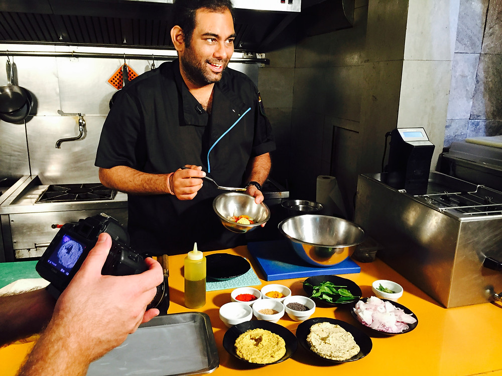 Gaggan Anand in kitchen