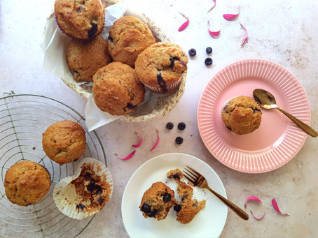 Healthy-licious Blueberry Muffins