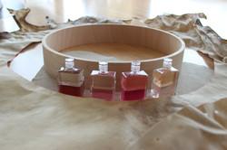 Ziegenhaut gelegt in Aura-Soma-Öle