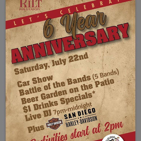 6th Anniversary at Tilted Kilt Mission Valley