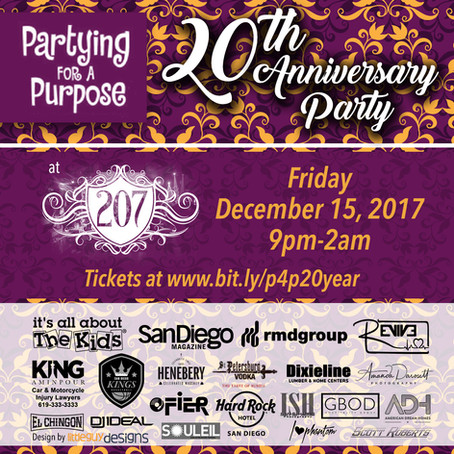 Partying for a Purpose 20th Anniversary Party to benefit IAATK