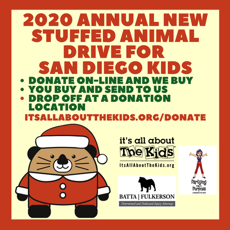 We need over 5,000 New Stuffed Animals for kids for the Holidays -Donation Locations!