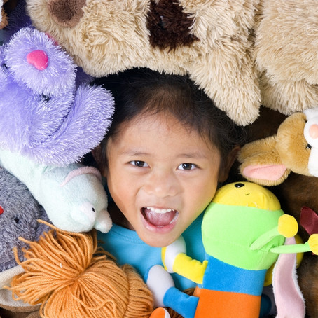Thank you for the over 1,500 New Stuffed Animals  and TOYS for the kids of the Feed the Kids Food Pa