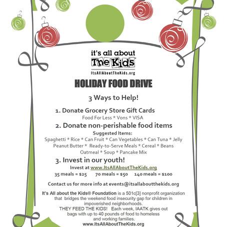 Three ways to help this Holiday Season!