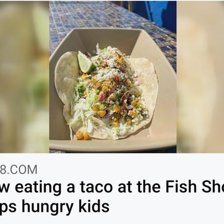 Celebrating 1 year of the Mahi Elote Taco Partnership with the Fish Shops
