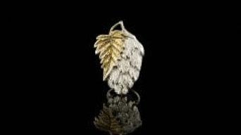 Silver Hop Lapel Pin