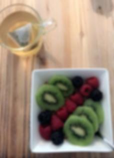 Thé et fruits