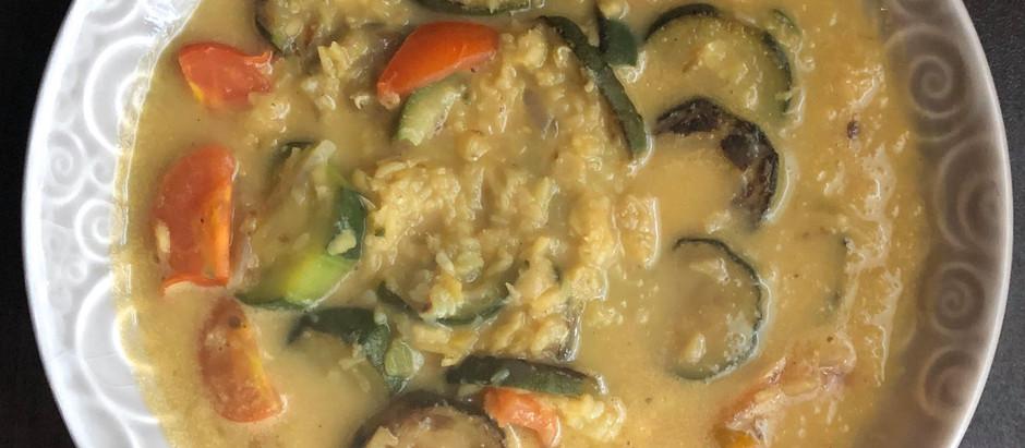 Curry de lentilles corail et courgettes