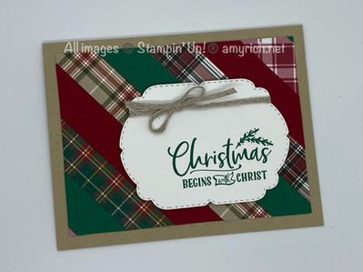 Strippy Christmas card