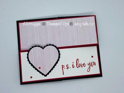 Love you Crossover Gatefold card
