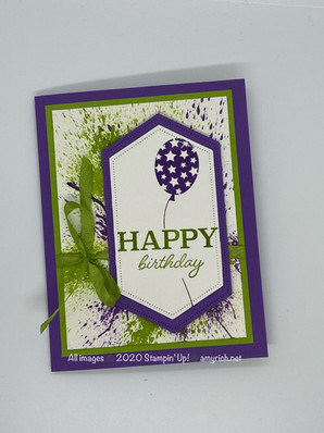 Ink blowing birthday card