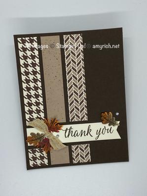 The front of the Beautiful Autumn Fun-fold card