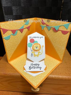 Peek-a-boo Tent Fold card