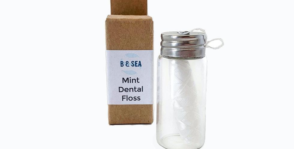natural silk dental floss: minty goodness