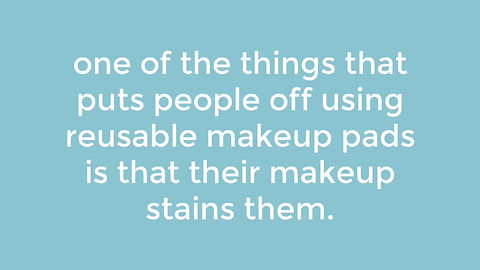 how to clean reusable makeup pads and get rid of makeup stains
