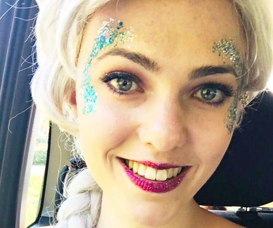 Glitter Face Art