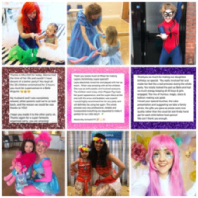 Princes Party Squad reviews, Moana party entertainers London,