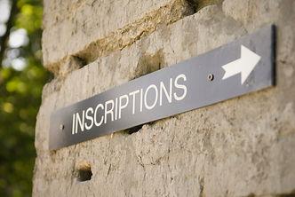 Modalités d'inscription