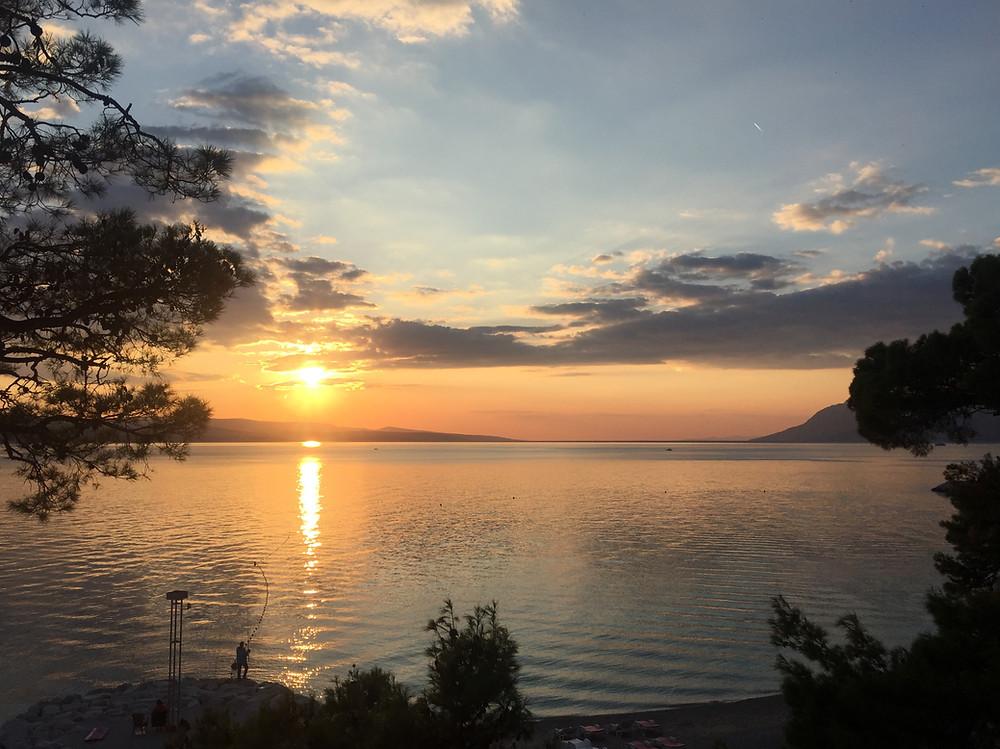 Sonnenuntergang in Dalmatien